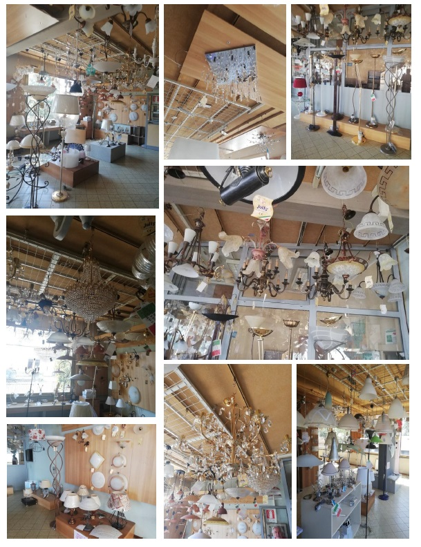Stock of chandeliers (finished products ready for delivery)