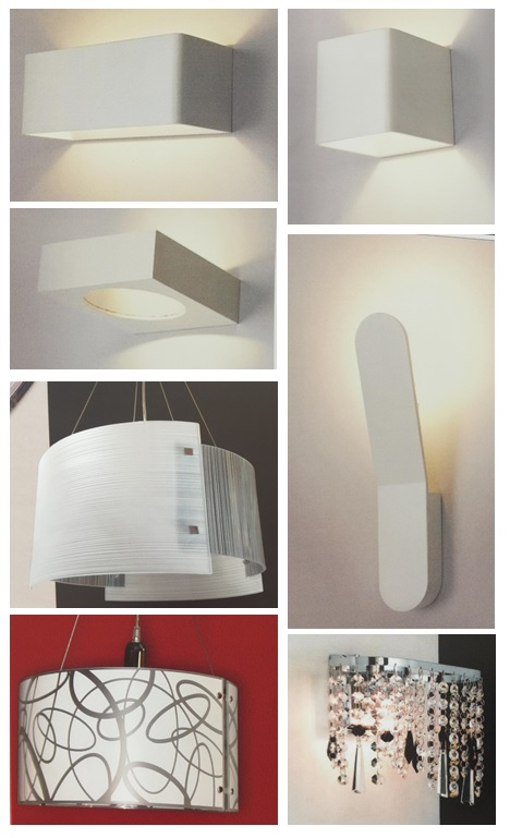 Small stock of led and non-led wall / ceiling lights